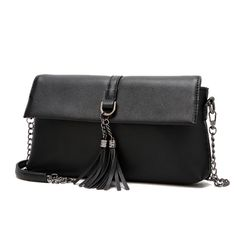 fdd76ecfda Women Vintage PU Shoulder Bag Female Causal Tassel Messager Bag Lady  All-Purpose Day Clutches