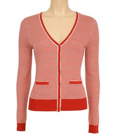 Another great find on #zulily! Red Beehive Cardigan by Louie et Lucie #zulilyfinds