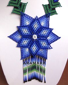 Mexican Jewelry Huichol jewelry Mexican Necklace Flower