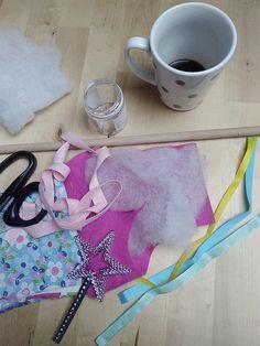 Un joli tuto pour fabriquer facilement une baguette magique en tissus