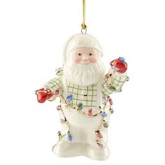Lenox 2016 Santa Figurine Ornament Annual Tangled in Lights Christmas >>> More info could be found at the image url. (It is an affiliate link and I receive commission through sales) Christmas Trees For Kids, Disney Christmas Ornaments, Personalized Christmas Ornaments, Santa Christmas, Christmas 2016, Christmas Photos, White Christmas, Christmas Lights, Christmas Decorations