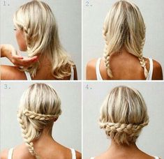 Cute hairstyles for short to medium hair. Braid/Braided hairstyles. Quick, on-the-go, simple hairstyles.