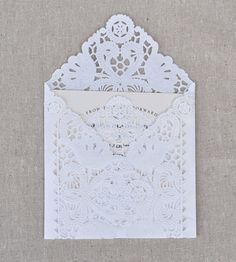 Envelope made with paper doily.