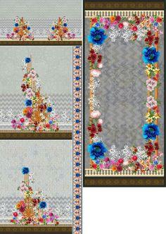Border Pattern, Pattern Design, Print Design, Digital Data, Digital Image, Textile Prints, Textile Design, Watercolor Moon, Design Seeds