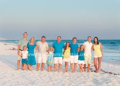Offering large group family portrait photography to Panama City Beach, Destin, SanDestin, Rosemary Beach, Family Reunion Photos, Summer Family Photos, Family Beach Pictures, Beach Photos, Large Family Portraits, Large Family Photos, Family Pics, Beach Picture Outfits, Family Photo Outfits