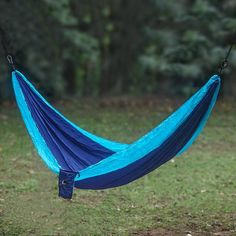 Features:  -Material: 100% nylon.  -Hanging accessories not included.  -Carrying case included.  -Holds up to 400 lbs.  -Weather resistant.  -Parachute collection.  Product Type: -Camping hammock.  Ha