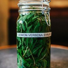This sweet syrup takes fresh lemon verbena from your herb garden and turns it into a staple for all of your cocktail recipes and desserts galore.