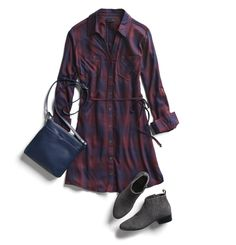 nice stitch fix monthly trends. Digging the plaid dress. Maybe a different color though CONTINUE READING Shared by: Stitch Fix Outfits, Stitch Fix Dress, Stitch Fix Fall, Stitch Fit, Flannel Dress, Plaid Dress, Trends 2016, Simple Fall Outfits, Stitch Fix Stylist