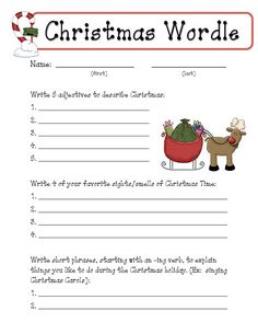 Great writing activity for gifts!