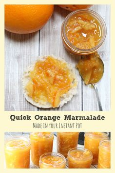 This easy orange marmalade recipe takes only 10 minutes to cook in your Instant Pot or pressure cooker. Includes instructions for canning or freezing! #InstantPotRecipes #breakfastrecipes #canning