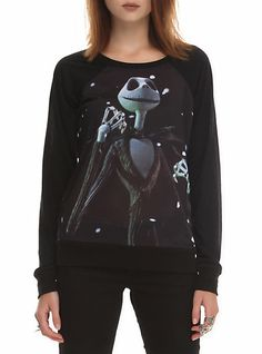 The Nightmare Before Christmas Jack Snow Girls Pullover Top   Hot Topic