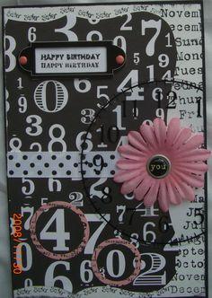 Theresa's 40th Bday card, sister