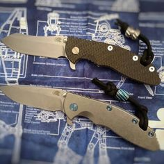 "My Skinner and Spearpoint Hinderer XM-18 3.5"" knives. #hinderer #xm18 #knives"