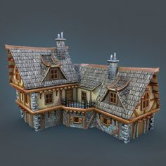 Medieval Coaching Inn, Slava Budnyk on ArtStation at https://www.artstation.com/artwork/medieval-coaching-inn