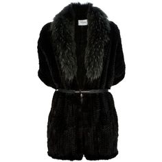 YVES SALOMON knitted fur coat ($2,180) ❤ liked on Polyvore