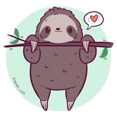 animals cartoon Doodled up a little sloth they're basically my spirit animal right now, the h. Doodled up a little sloth they're basically my spirit animal right now, the heat makes me such a lump😂😂 Cute Kawaii Animals, Cute Animal Drawings Kawaii, Cute Drawings, Cute Cartoon Animals, Kawaii Illustration, Tree Illustration, Cute Animal Illustration, Kawaii Doodles, Kawaii Art