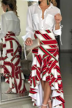You love stylish wears like this and you want some for yourself? You love being in fashion making money and you don't know how to get started? You are already into fashion but you need good tailors to hire or work with? Contact us via (SMS,c Skirt Outfits, Dress Skirt, Casual Outfits, Aaliyah, African Dress, Pretty Outfits, African Fashion, Casual Chic, Cute Dresses