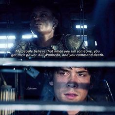 "#The100 3x01 ""Wanheda: Part One"" - Indra and Ballamy"
