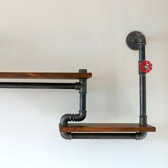 #pipeshelf #shelf #loft #industrial #pipefurniture by steel_and_wood1