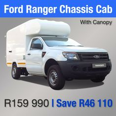 Save R46 110 on a new Ford Ranger 2.5 Chassis Cab, now for R159 990.