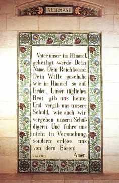 german prayer father unser der du bist in himmel | Das Vaterunser / The Lord's Prayer