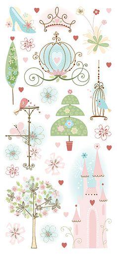 Cute, hand-drawn illustrations.