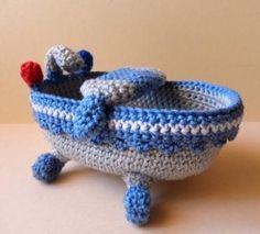 A crochet amigurumi bathtub. So much fun! Bathtub - Media - Crochet Me