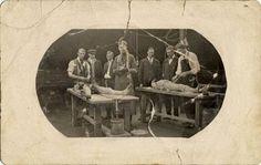 Disecciones en el departamento de Anatomía de la University of Oregon Medical School (1913). Imagen de la Oregon Health & Science University