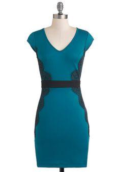 Up Teal Dawn Dress, #ModCloth