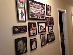 Hallway photo collage