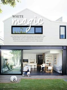 modern reno weatherboard and steel rear - Google Search