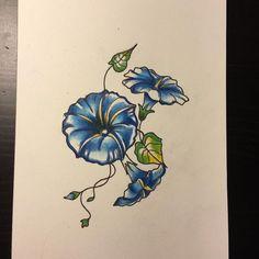 Morning Glory Tattoo on Pinterest | Tattoos September Birth Flower ...
