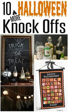 DIY Halloween Decorations | Check out these ten Halloween projects that are knock offs of Pottery Barn!