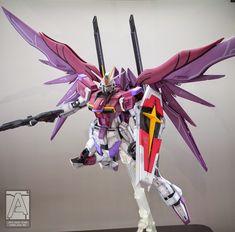 GUNDAM GUY: MG 1/100  ZGMF-X56S/ι Destiny Impulse Gundam R - Painted Build