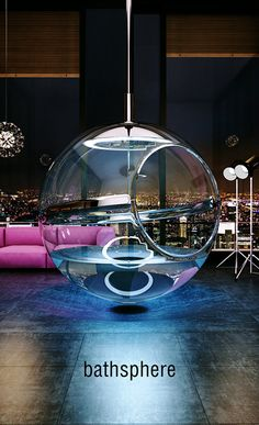 The newest concept of bathroom designed by Alexander Zhukovsky. BATHSPHERE is the concept of space in space.