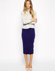 Изображение 1 из Трикотажная юбка-карандаш миди ASOS