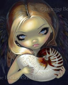 Alchemical Angel II goth arcane shell fairy art print by Jasmine Becket-Griffith by strangeling on Etsy Amy Brown, Animal Art Prints, Fine Art Prints, Canvas Prints, Candle In The Dark, Gothic Fairy, Goth Art, Lowbrow Art, Eye Art