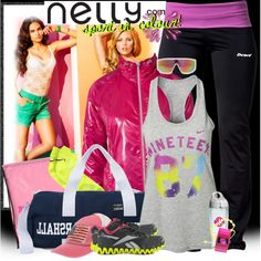 """""""nelly.com-Time to get active!"""" by anita-n ❤ liked on Polyvore"""