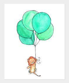 Lion & Baloons