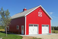 Visit the Lester Buildings Project Library for pole barn pictures, ideas, designs, floor plans and layouts. Taylors Falls, Barn Pictures, Shop Buildings, Building Systems, Hobby Shop, Grey Flooring, Shop Plans, Carriage House, Wainscoting