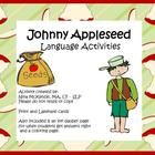 Johnny Appleseed Language for speech therapy language activities