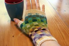 use up scrap sock yarn with MOSAIC MITTS (based on Eunny Jang's Endpaper Mitts