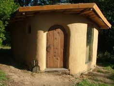 Cob - I love the simplification of using the A-frame roof.