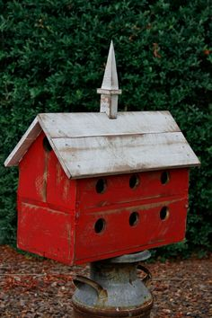 Purple Martin Bird House, Large Barn Bird House, Functional Bird House, Rustic…