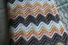 Baby Blanket, Crochet Baby Blanket Ripple in Peach, pink, grey, yellow Baby Blanket Crochet, Crochet Baby, Baby Knitting, I Shop, Peach, Grey Yellow, Blankets, How To Make, Pattern