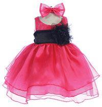 68b8105d06c Flower Girl Dresses - Girls Dress Style 574 - FUCHSIA Dress with Choice of  70 Sash