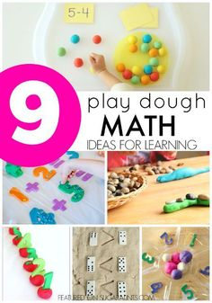 Creative ways to practice math skills and concepts using play dough!