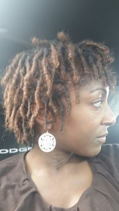 Starter locs at 2 months. This is similar to what my locs look like now. I'm I month Natural Dreads, Natural Hair Tips, Natural Hair Styles, Short Hair Styles, Short Locs Hairstyles, Black Hairstyles, Wedding Hairstyles, Nattes Twist Outs, Beautiful Dreadlocks