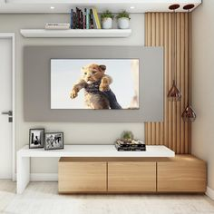 Interior design is the best thing you can do for your home Wall Unit Decor, Home Living Room, Living Room Decor, Modern Tv Room, Tv Unit Furniture, Living Room Tv Unit Designs, Home Interior Design, Interior Logo, Nordic Interior