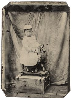Buy online, view images and see past prices for c. Tintype Photograph showing a Young Child on Toy Horse with Wheels. Invaluable is the world's largest marketplace for art, antiques, and collectibles. Tintype Photos, Old Dolls, Early American, Wooden Boxes, American History, The Past, Auction, March 6, Horses